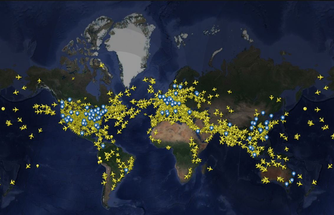 world map, flight map, global plane routes