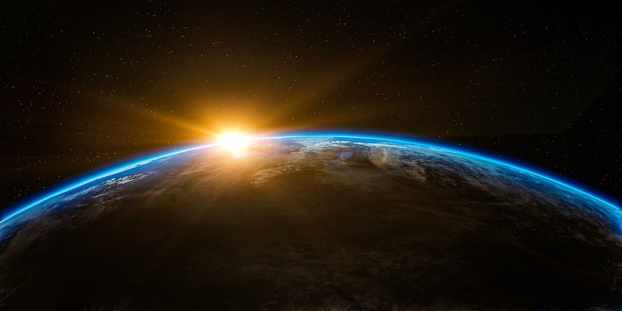 space, earth, planet, sunrise, out of this world