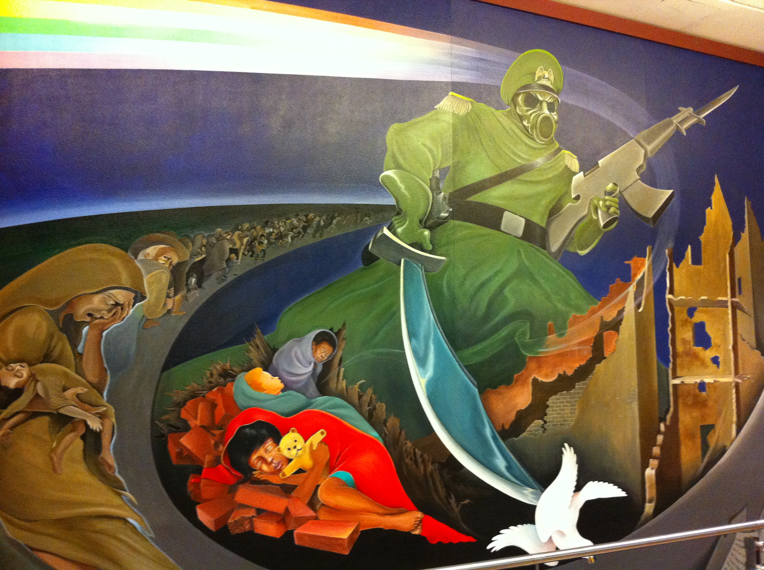 Behind the denver airport conspiracies the flight blog for Denver airport mural conspiracy