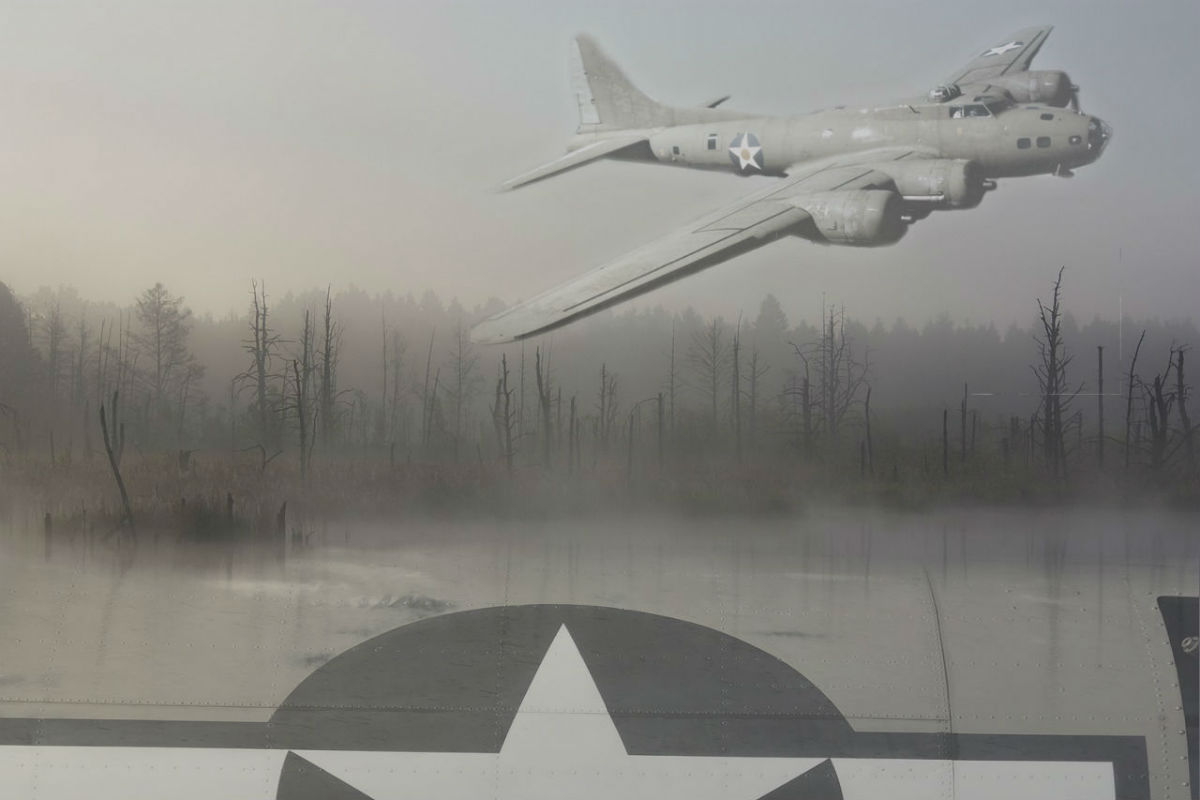 swamp ghost, b-17, flying fortress